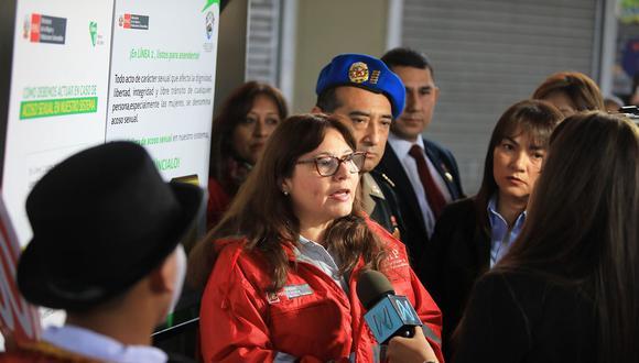 Ana María Mendieta, ministra de la Mujer, fue mencionada en una conversación entre el congresista Mauricio Mulder y el empresario Mario Mendoza. (Foto: MIMP)