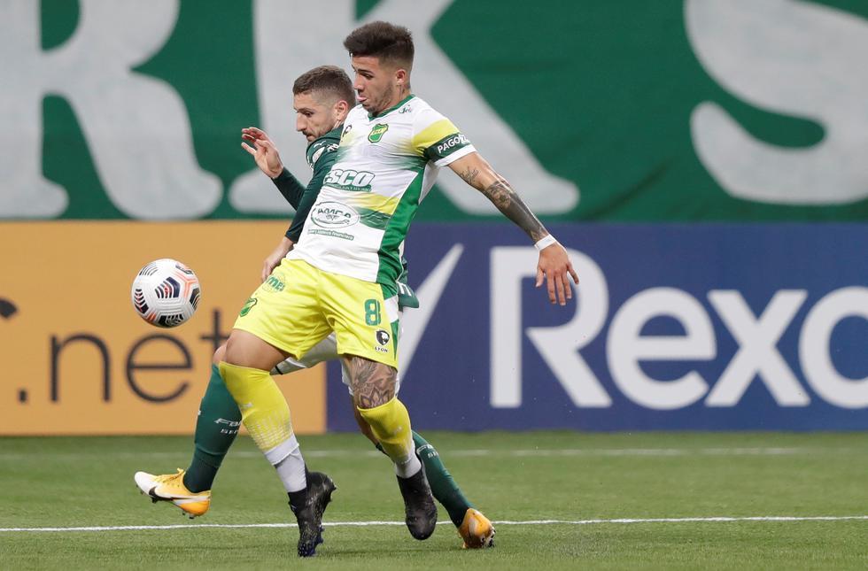 Defensa y Justicia enfrentó a Palmeiras por la Copa Libertadores