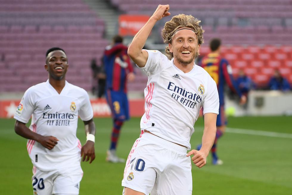 Luka Modric convirtió el 3-1 frente al Barcelona en el Camp Nou