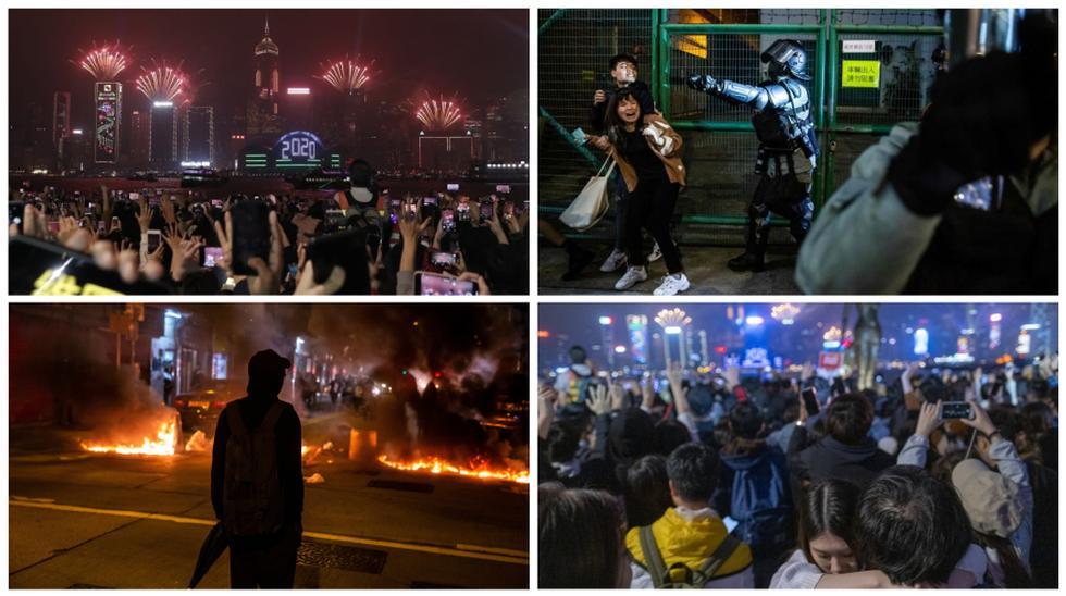 Las protestas contra el gobierno de Hong Kong iniciaron en junio del 2019, pero en diciembre la violencia en estas creció. (Foto: AFP/AP/Bloomberg)