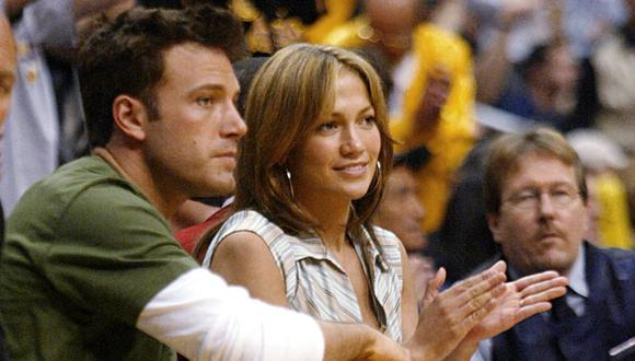 Ben Affleck y Jennifer Lopez en una imagen del 2003. (Foto: AFP)