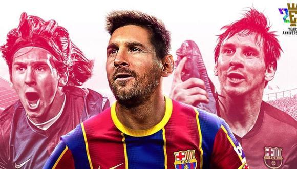 Lionel Messi será la imagen promocional de PES 2021. (Difusión)