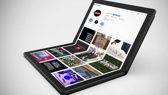 ¿Cuántas veces se podrá doblar? Conoce las características de la Lenovo ThinkPad X1 Fold. (Foto: Lenovo)