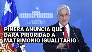 Piñera anuncia que dará prioridad a proyecto de ley sobre matrimonio igualitario