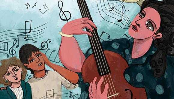 En momentos de crisis, la música se convierte en una aliada para expresar las emociones. En este sentido, en el mundo, han reaparecido canciones emblemáticas que buscan la unión y la esperanza.  (Ilustración: Giovanni Tazza)