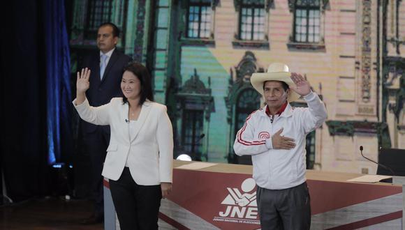 A una semana de las elecciones de segunda vuelta, los candidatos Keiko Fujimori y Pedro Castillo protagonizaron un segundo debate. El primero fue en Chota, aunque el de Arequipa fue el oficial. (Foto: Leandro Britto | GEC)