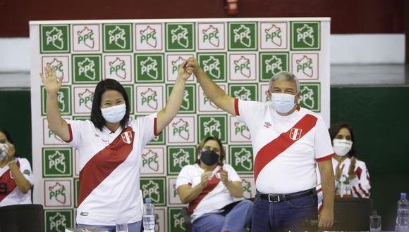 La candidata presidencial Keiko Fujimori dijo esperar que el apoyo del PPC no se traduzca solo en la actual campaña, sino en los próximos cinco años. (Foto: José Rojas Bashe / @photo.gec)