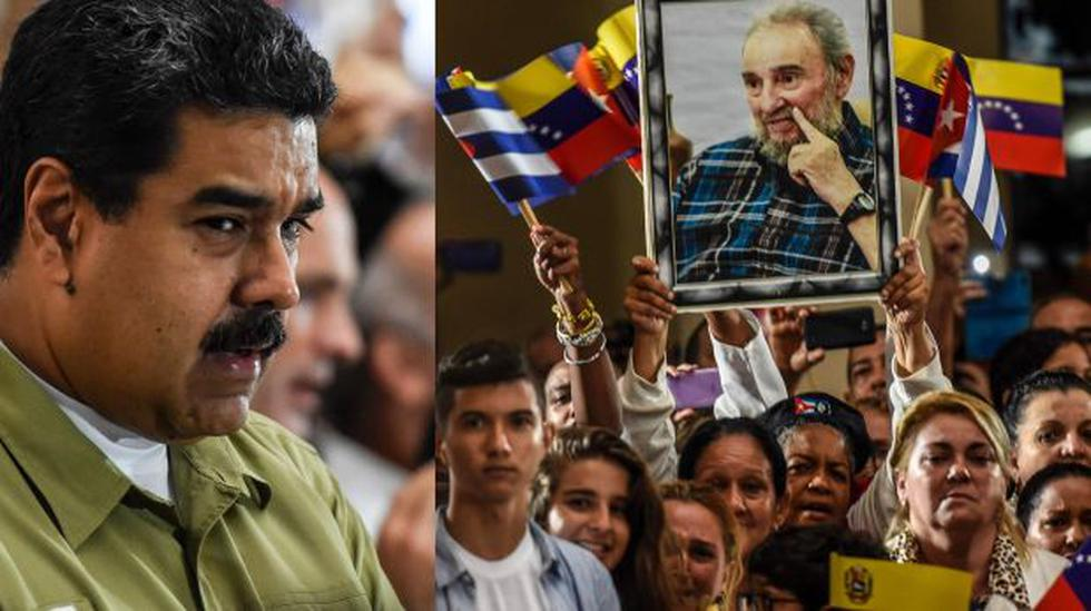 Maduro rindió homenaje a Castro frente a la tumba de Chávez - 1