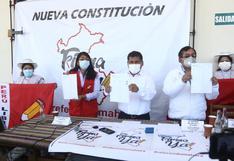 ¿En qué tipo de eventos de Perú Libre buscará firmas para cambiar la Constitución?