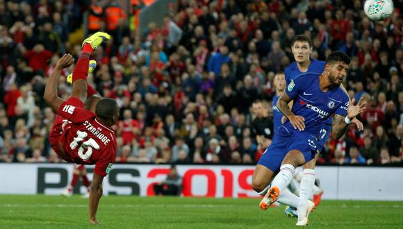 Liverpool vs. Chelsea: Sturridge anotó golazo para el 1-0 de los 'Reds' por la Copa de la Liga | VIDEO. (Foto: AFP)