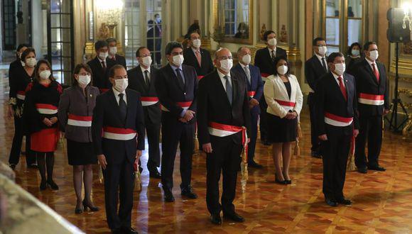 El nuevo Gabinete Ministerial es encabezado por el general EP en retiro Walter Martos. (Foto: PCM)