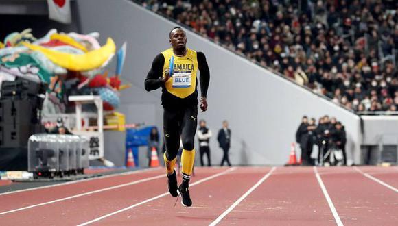 Usain Bolt se hizo presente en la inauguración del recinto que albergará los Juegos Olímpicos Tokio 2020 con un relevo simbólico. (Foto: AP)
