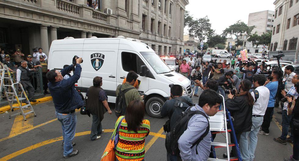Empresarios peruanos fueron llevados al penal Ancón I tras permanecer en la carceleta del Poder Judicial. (Foto: Alessandro Currarino/ El Comercio)