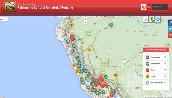 El mapa interactivo del patrimonio cultural inmaterial del Perú