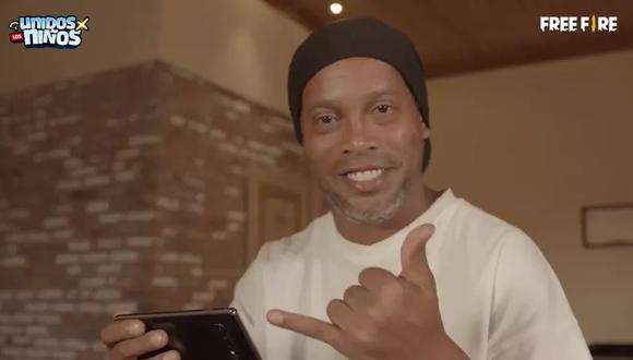 Ronaldinho Gaúcho pide ayuda para afrontar su compromiso con el Free Fire. (Foto: Twitter)