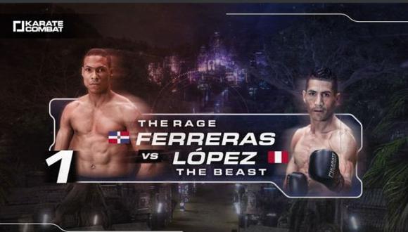 Jesús Paucarcaja es el único peruano que pelea en Karate Combat. (Foto: Difusión)