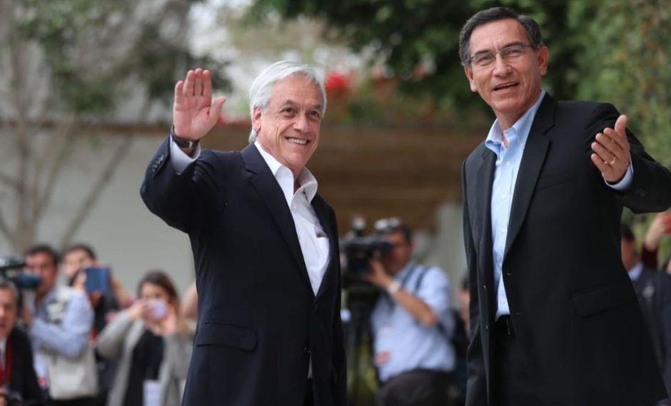 El presidente Sebastián Piñera también saludó la designación de nuevos ministros en el gabinete liderado por el primer ministro Vicente Zeballos. (Foto: Twitter - Cancillería Perú)