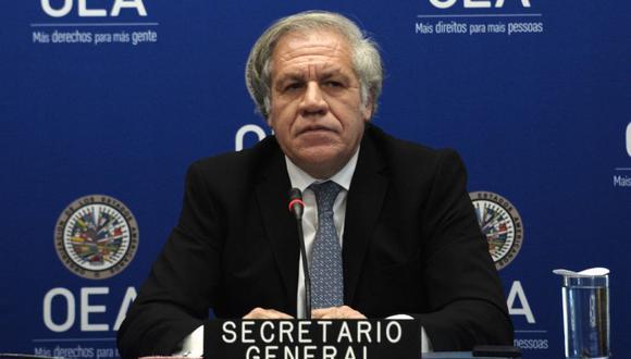 El Secretario General de la Organización de los Estados Americanos (OEA), Luis Almagro, realiza una conferencia de prensa evaluando el año 2019 en la sede de la OEA en Washington. (Foto: Archivo / EVA HAMBACH / AFP)