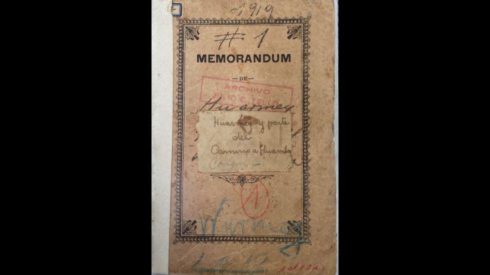 Páginas de los cuadernos de campo de Julio C. Tello, parte del Archivo Tello, custodiados por el Museo de Arqueología y Antropología de la Universidad Nacional Mayor de San Marcos.