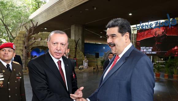 """Recep Tayyip Erdogan sostuvo también que los objetivos que se han planteado Venezuela y Turquía """"no van a quedarse solamente en palabras"""". (Foto: AFP)."""