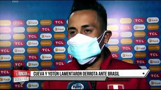 Cueva y Yotún comentaron sobre la derrota ante Brasil