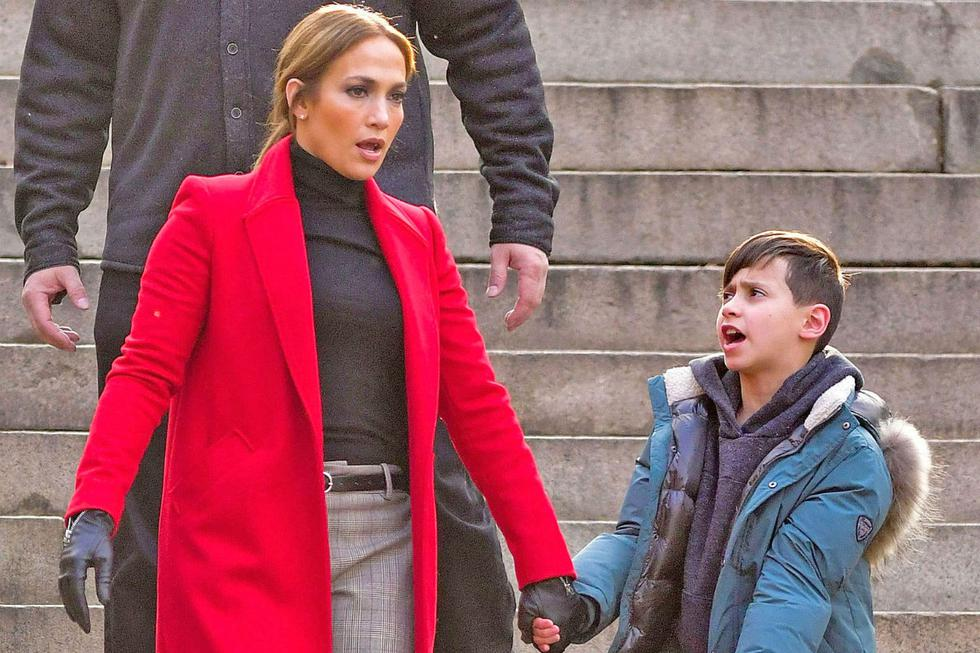 Jennifer López y su hijo Max, fruto de la relación que mantuvo con el cantante Marc Anthony.| Foto: @jlo