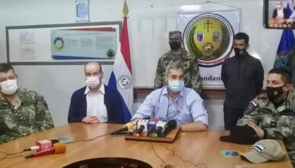 El presidente de Paraguay informó personalmente sobre el resultado del operativo. (Presidencia de Paraguay).