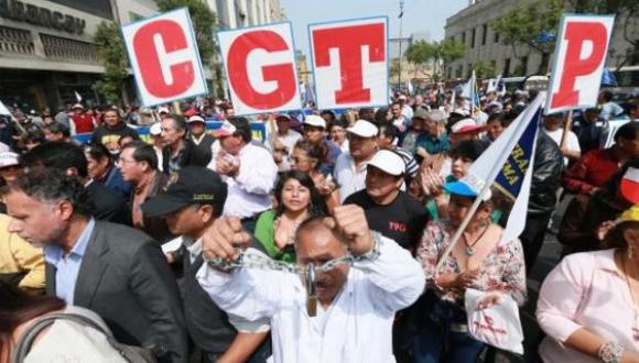 La CGTP no está de acuerdo con la nueva ley agraria. (Foto: GEC)
