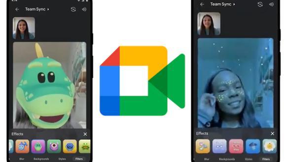 Diviértete con tus amigos con los nuevos filtros de Google Meet para Android y iOS de iPhone (Foto: Google / Composición)