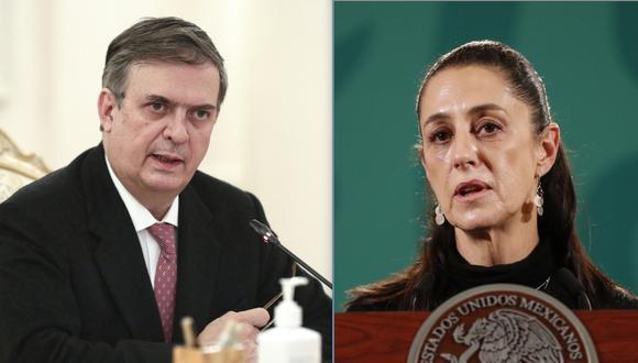 Marcelo Ebrard y Claudia Sheinbaum: el exjefe de gobierno de la Ciudad de México y la actual líder de la ciudad. (Fotos: AP y EFE).