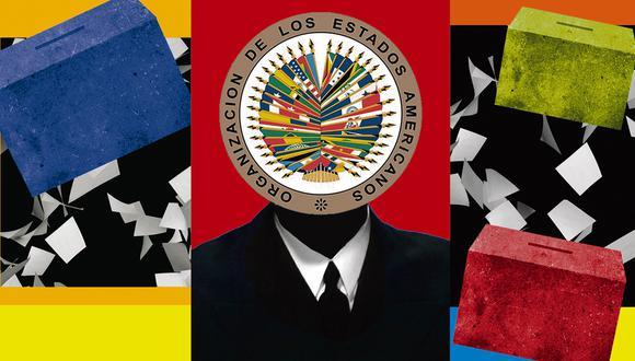 """""""La misión de la OEA en Bolivia en el 2019 concluyó que 'las manipulaciones e irregularidades señaladas no permiten tener certeza sobre el margen de victoria del candidato Morales sobre el candidato Meza'"""", afirma Kahhat. ILUSTRACIÓN: GIOVANNI TAZZA"""