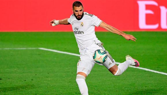 Real Madrid vapuleó al Valencia en LaLiga con goles de Karim Benzema (2) y Marco Asensio | Foto: AP/AFP/EFE