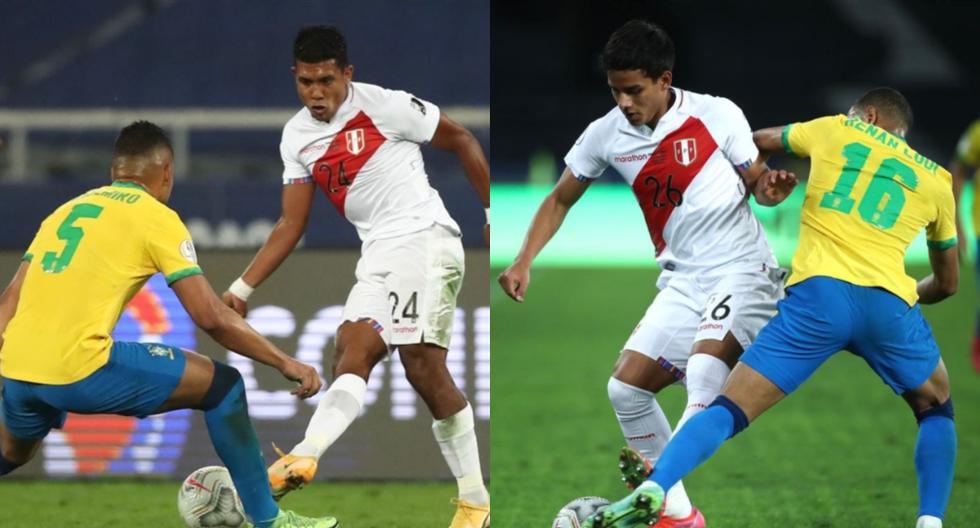 Raziel García, Jhilmar Lora y Gerald Távara tuvieron minutos ante Brasil.