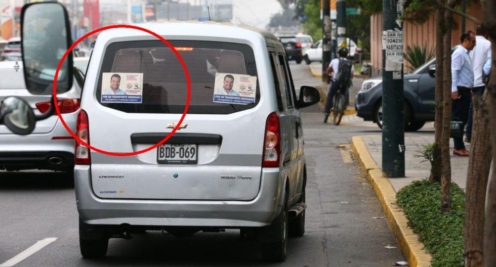La Av. Javier Prado es una de las vías más afectadas por el caos que generan los taxis colectivos informales, pues invaden la ruta de los corredores. Guillermo Aliaga los apoya. (Foto: Hugo Curotto)
