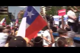 Gran banderazo en Chile a favor de la Constitución