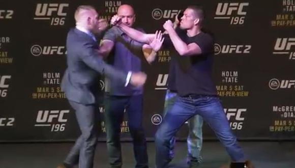 UFC: Conor McGregor y Nate Díaz casi se pelean en conferencia