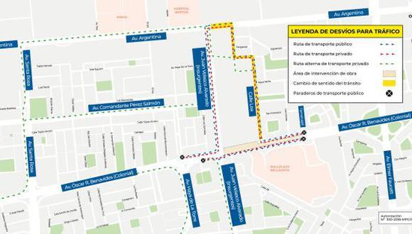 A partir del domingo 26 de mayo, la Sociedad Concesionaria Metro de Lima Línea 2 S.A. ejecutará el plan de desvío de tránsito vehicular. (Foto: AATE)