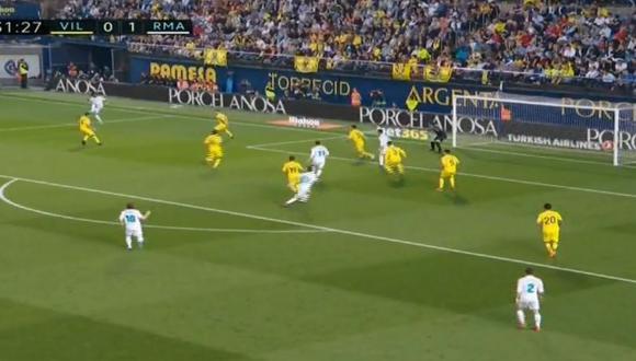 Real Madrid vs. Villarreal: Cristiano marcó golazo tras precisa asistencia de Marcelo. (Foto: Captura de video)