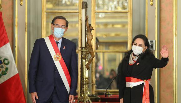 """""""No nos preocupa (no alcanzar los votos para la investidura del gabinete Cateriano) porque realmente, en un año que queda de gestión, tenemos que pensar por el Perú y tengo la convicción que todas las bancadas van a sumar esfuerzos para que el Perú siga adelante"""", afirmó Gloria Montenegro (Foto: Presidencia9"""