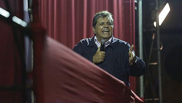 Alan García dijo que no cree mucho en los resultados de las encuestas, que le dan solamente el 8% de intención de voto. (Foto: Archivo El Comercio)