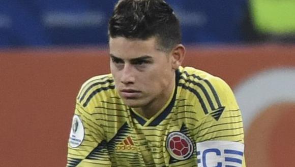 James Rodríguez no tuvo un buen rendimiento en la derrota ante Uruguay. (Photo by Nelson ALMEIDA / AFP)