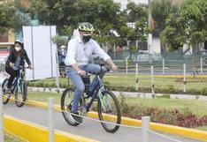SJL: alcalde Jorge Muñoz entregó primera ciclovía en avenida Los Jardines