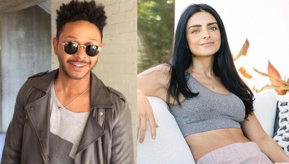 Kalimba y Aislinn Derbez mantuvieron un romance en 2007, se conocieron después de que ella protagonizó junto al cantante mexicano el video del sencillo 'Solo déjate amar' (Foto: Instagram de Aislinn Derbez y Kalimba)
