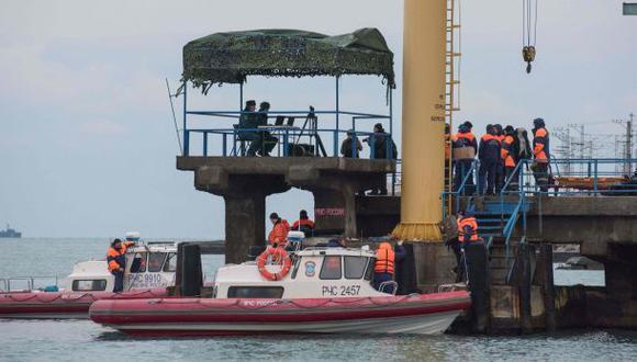 Hallan fuselaje de avión militar ruso siniestrado en Mar Negro