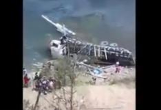 Huánuco: tres personas murieron tras caída de camión a un abismo