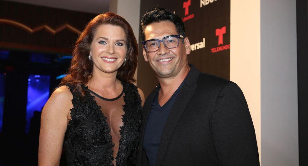 Sonya Smith y Gabriel Porras estuvieron juntos por cinco años, pero finalmente el amor se acabó por un error del actor (Foto: Telemundo)