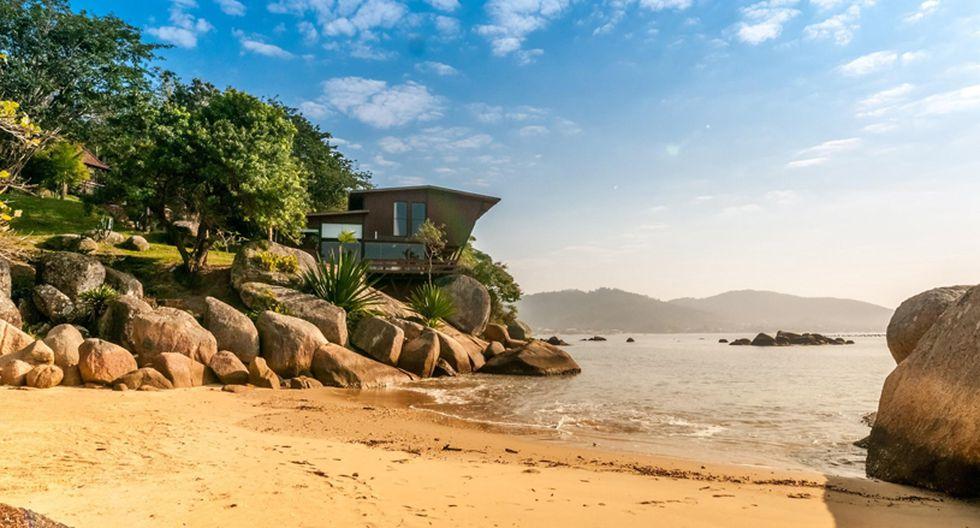 2019: Casa con playa privada - Santa Catarina, Brasil. (Foto: Difusión)