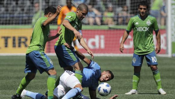 Seattle Sounders hizo valer su localía y derrotó por 3-1 al New York City en una nueva jornada de la MLS. Raúl Ruidíaz y Alexander Callens iniciar como titulares (Foto: AP)