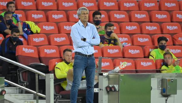 Setién guió a Barcelona hacia la senda del triunfo nuevamente en campo del Villarreal. (Foto: AFP)