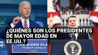 ¿Quiénes fueron los presidentes de mayor edad de Estados Unidos en sus tomas de posesión?